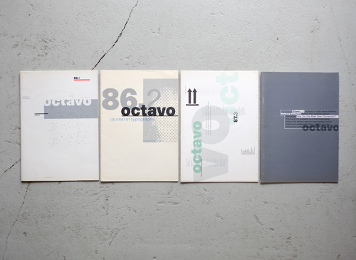 OCTAVO: journal of typography [issue 1-8 + poster]