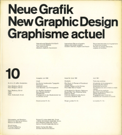 Neue Grafik / New Graphic Design / Graphisme actuel 10/1961