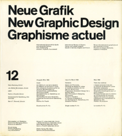 Neue Grafik / New Graphic Design / Graphisme actuel 12/1962