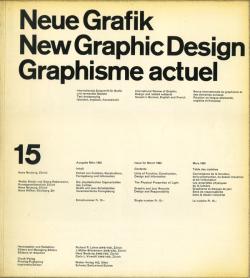Neue Grafik / New Graphic Design / Graphisme actuel  各号